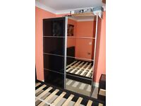 Pax Wardrobe / Glass - Mirror sliding doors / Great Condition