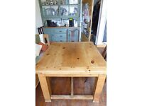 Solid pine extendable dining table