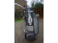 Callaway Green\Grey leather Golf bag, in reasonable good condition.