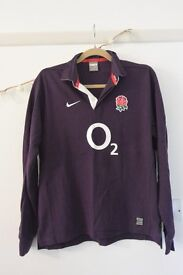 Nike purple long sleeved rugby jersey