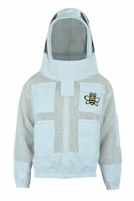Beekeepers 3 Layers Ultra Ventilated Bee Jacket With Fencing Veil Xl Size
