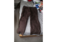 brown linen trousers. Size 14