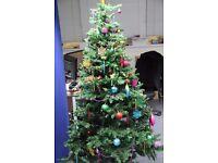 Festive Christmas Tree (1.80m, green) & Christmas Decoration