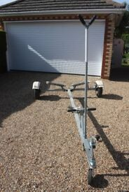Road Trailer with Mast Support & Jockey Wheel ideal for Mirror Dinghy or similar size boat - £250