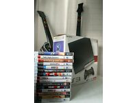 Sony PS3 with 15 Games, 5 Controllers & 2 Guitars Heros