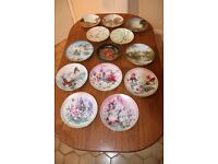 Collection of 13 ceramic collectors plates - sold as one lot