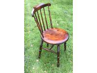 Antique Irish Wooden Chair.