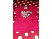J Jeans (Debenhams) Heart Button T-Shirt Age 9-10