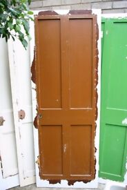 Vintage 4 panel doors, TLC required.