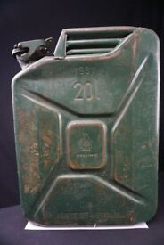Jerry can - 20L Steel, Olive Drab Green, Pouring Spout, Diesel, Fuel