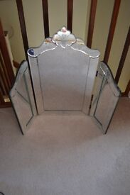 Venetian Etched Dressing Table Mirror