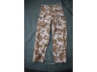 British Army Issue Desert Pattern Combat Trousers