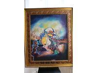 Baby Abstract Portrait With Gold Frame!! Oil Painting For £999!!
