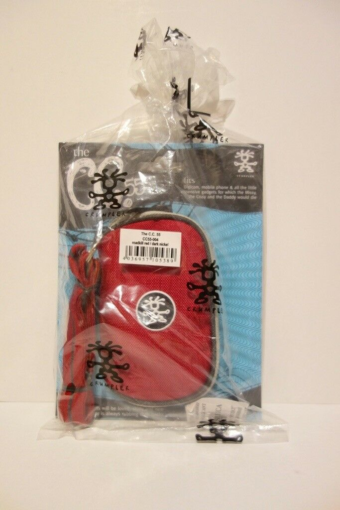 Crumpler C.C.55 gadget pouch with strap (Zip case for phone, mp3, camera etc.)