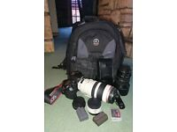 Canon EOS 40D Camera, 28-135mm & 100-400mm ultrasonic lens's Plus more