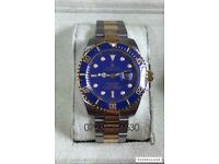 Rolex submariner oyster date luxury automatic diver watch gold/steel brand new in Swiss box