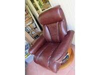 Leather Swivel Chair.