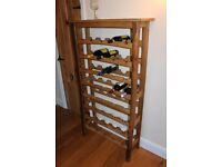 40 Bottle oak wine rack