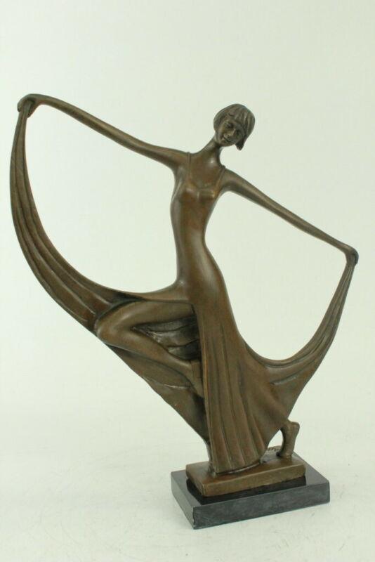 Vintage Bronze Sculpture Abstract Mid Century Modern Milo Modernist Art Figure
