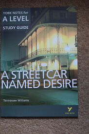 A level English A Streetcar Named Desire York notes Revision guide
