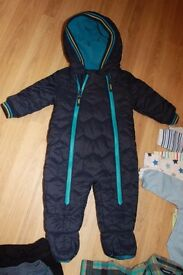 Baker by Ted Baker Baby boys' navy snowsuit