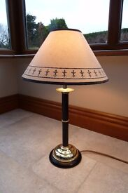 Decorative table lamp with matching lamp shade