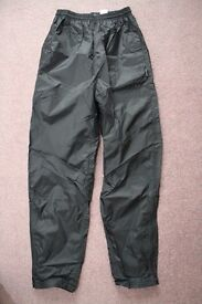 Ladies Peter Storm Black Waterproof Trousers - Size XS
