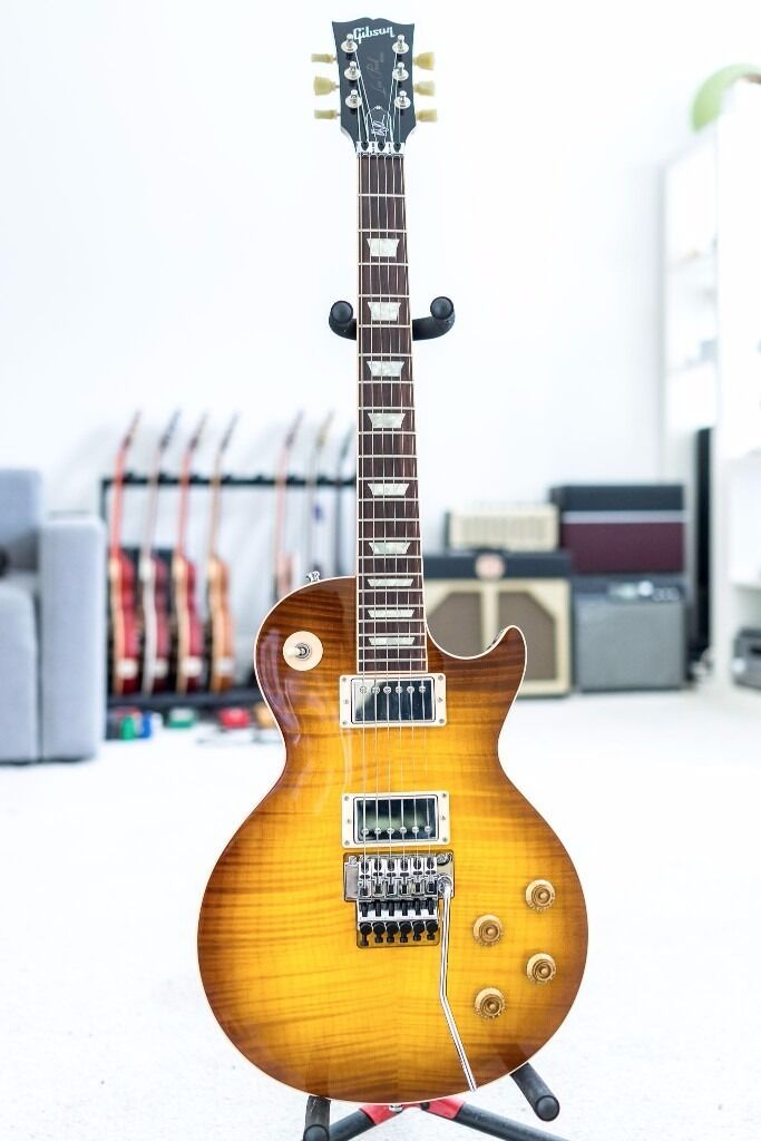 Gibson Alex Lifeson Les Paul Axcess Custom Shop In Viceroy Brown