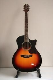 Acoustic Guitar - Crafter GAE8 Vintage Sunburst