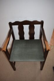 WOODEN DINING/OFFICE CHAIR