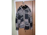 Wool festival hoodie coat
