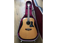 Tanglewood Acoustic Nashville Dreadnought TD8 with Fishman pickup and Hiscox hardcase!