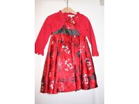 Beautiful Marks and Spencer Autograph Party / Holiday Dress and Red Shrug. Age 1 1/2 - 2 years