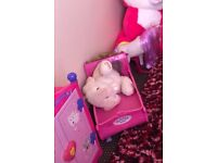 Girls toy house and wardrobe