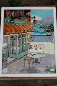 Hand Crafted Tile by Art YH Ceramics (Kitchen Feature Tile)