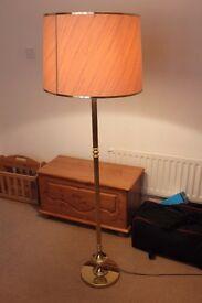 Tall Brass Lamp + Shade
