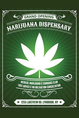 Art Print Cannabis Hemp Marijuana Male Botanical Poster Print 6x9 to 12x18 From