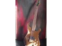 RARE Shadows electric guitar, made in West Germany 90s, with tweed hard case.