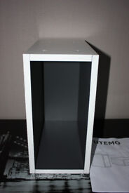 Ikea Tutemo Open display storage cabinet white / grey