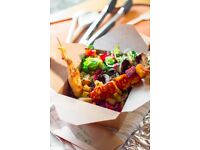 Stickman. Pop-up streetfood stall chicken, meatball, halloumi sticks & delicious salads