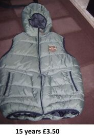 body warmer 15 years £3.50 collection only from Didcot from a smoke and pet free home