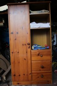 Pine Nursery/Toddler Wardrobe in great condition