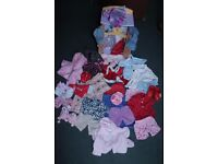 Huge stash of Build-a-Bear and Bear Factory clothes and accessories + wardrobe