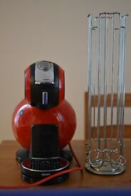 Red Dolce Gusto Melody + capsule stand