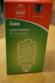 Low Energy GLS/Spiral 23w=100w 1500 lumen Energy Saving Bulb Brand New