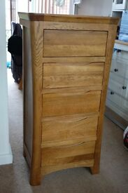 Hardwood (Oak) Chests of Drawers x 2