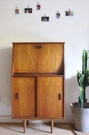 Retro Vintage teak Danish Bookcase/Cabinet mid century