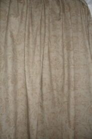 2 PAIR'S COFFEE COLOURED THICK CURTAIN'S
