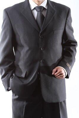 MEN'S 4 BUTTON DRESS SUIT MENS BLACK NEW SUITS SIZE 46S
