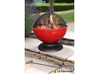 La Hacienda Globe firepit with BBQ grill